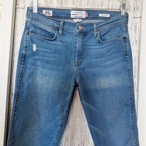Lucky Brand White Oak Denim Charlotte Rail Jeans